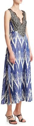 Rachel Comey Panicle Ikat Lace Cotton Maxi Dress