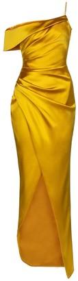 Rasario Off-shoulder satin gown