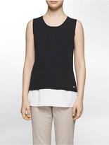 Calvin Klein Textured V-Neck Sleeveless Top