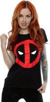 Marvel Women's Deadpool Clean Logo T-Shirt Large Black