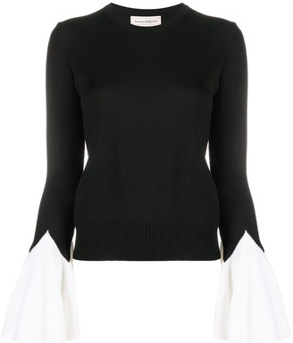 Alexander McQueen Two-Tone Knitted Jumper