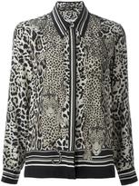 Roberto Cavalli 'Diamond Cats' blouse - women - Silk - 42