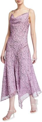 Misha Collection Lisa Floral Print Flounce-Hem Midi Slip Dress