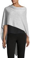 Letarte Solid Cashmere Wrap Topper, gray