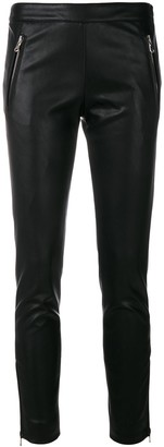 Moschino Faux-Leather Zip Detail Trousers