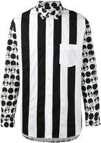 Comme des Garcons contrast print shirt