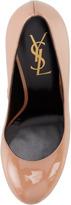 Saint Laurent Tribtoo Patent Leather Pump, Dark Nude