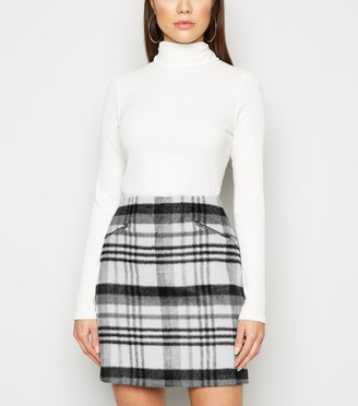 New Look Brushed Check Mini Skirt