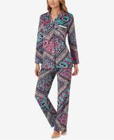 Ellen Tracy Velour Jewel-Trim Pajama Set