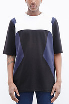 Forever 21 FOREVER 21+ Control Sector Geo Colorblocked Tee