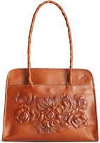 Patricia Nash Large Tooled Rose Paris Shoulder Bag