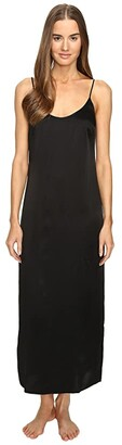 La Perla Silk Night Gown (Black) Women's Pajama