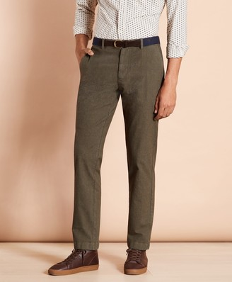 Brooks Brothers Plaid Twill Stretch Chinos