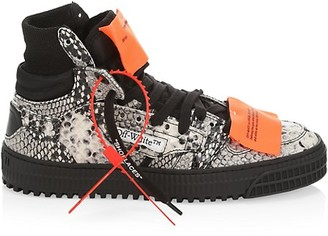 Off-White 3.0 Court Python-Embossed Sneakers