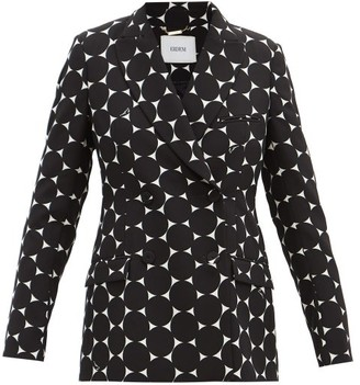 Erdem Freesia Double-breasted Crepe Jacket - Black/white