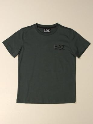 Ea7 Cotton T-shirt With Logo