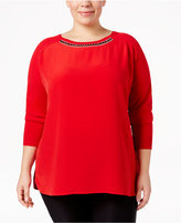 Calvin Klein Plus Size Embellished Sweater