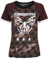 Valentino Butterfly Motif Camo And Star Print T-Shirt
