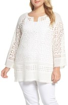 Nic+Zoe Plus Size Women's Free Spirit Lace Tunic