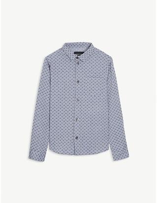 Emporio Armani Logo cotton shirt 4-16 years