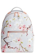 Ted Baker Flower Print Leather Backpack - Grey