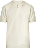 Sunspel Honeycomb-textured cotton polo shirt
