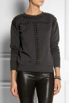 Isabel Marant Scotty studded cotton sweatshirt