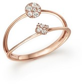 Bloomingdale's Diamond Double Row Ring in 14K Rose Gold, .15 ct. t.w.