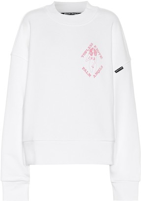 Palm Angels Oversized cotton jersey sweatshirt