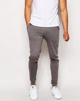 Asos Super Skinny Joggers In Charcoal Marl