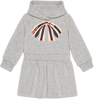 Gucci Baby cotton dress with stripe