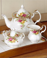 "Royal Albert Old Country Roses"" 3-Piece Tea Set"