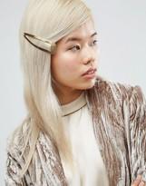 Asos Oversize Gold Snap Hair Clip