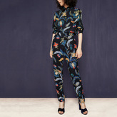 Maje Flowing trousers with baroque print