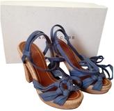Marc Jacobs Blue Suede Sandals
