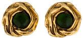 Christian Lacroix Rose Petal Crystal Earrings