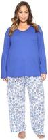 Jockey Plus Size Knit Two-Piece Pajama Set