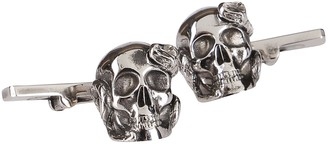 Alexander McQueen Skull And Snake Cufflinks