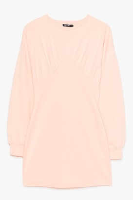 Nasty Gal Womens Show Bust Go on Sweater Mini Dress - Peach