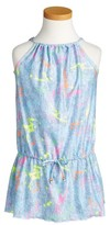 Pilyq Girl's Little Aurora Paint Splatter Cover-Up Dress