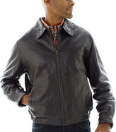 JCPenney Excelled Leather Excelled Nappa Leather Self-Elastic Bomber Jacket