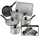Farberware Dishwasher Safe Nonstick Cookware Set- 15-Piece