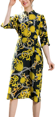 BURRYCO Silk Midi Dress