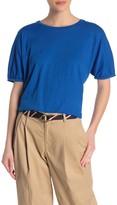 Velvet by Graham & Spencer Slub Knit Puffed Sleeve T-Shirt