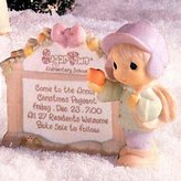Precious Moments Sugar Town Marquee with Boy with Snowball Sign Figurine, 272809