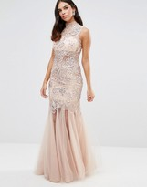 Forever Unique Kassidy Embellished Maxi Dress With Net Skirt