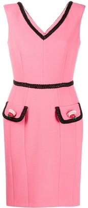 Moschino Contrast-Trim Dress
