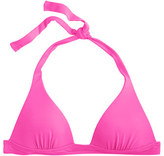 J.Crew Neon sculpted halter bikini top