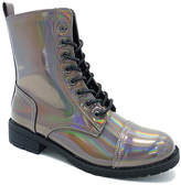 Wild Diva Pewter Hologram Timberly Boot