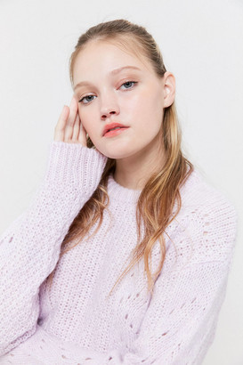 Urban Outfitters Libby Pointelle Crewneck Sweater